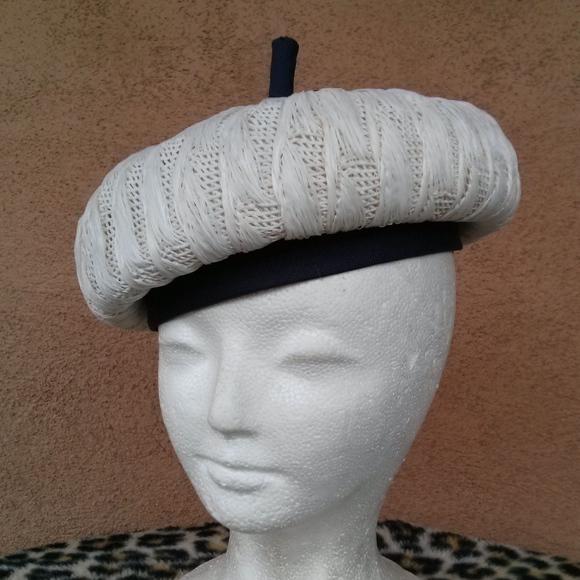 dae30a5e Vintage Accessories   1960s Mod Beret Straw Bubble Hat   Poshmark